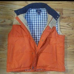 MENS 346 Brooks Brothers Snap Button ZIPPER Vest
